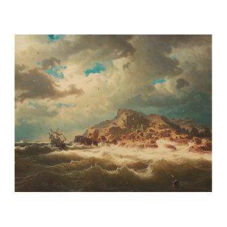 Marcus Larson - Ship by the Coast Wood Wall Art