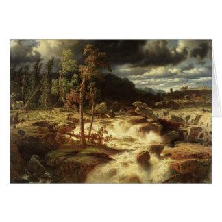 Marcus Larson - Waterfall in Smaland Card