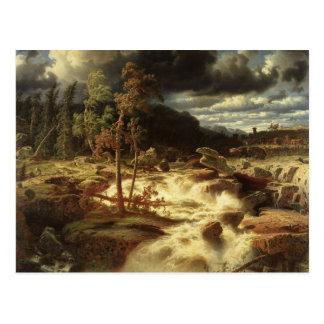 Marcus Larson - Waterfall in Smaland Postcard