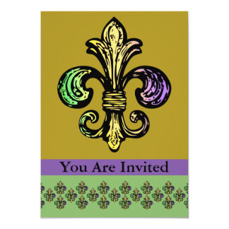 Mardi Fleur de Gras Custom Invite