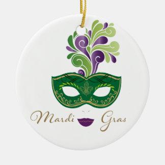 Mardi Gras 18.2 Ceramic Ornament
