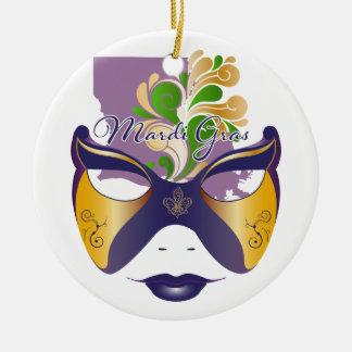 Mardi Gras 18.3 Ceramic Ornament