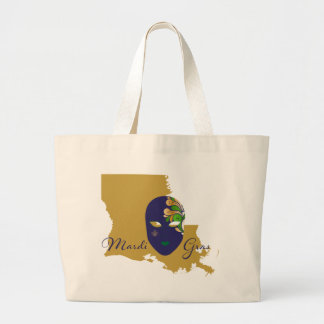 Mardi Gras 18.4 Large Tote Bag