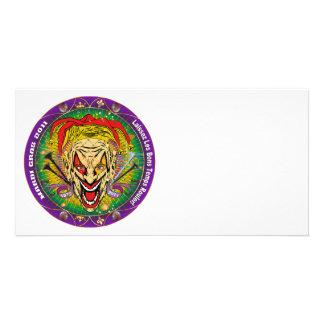 Mardi Gras 2011 Joker-V-3 Personalized Photo Card