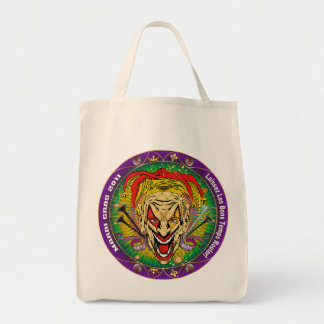 Mardi Gras 2011 Joker-V-3 Grocery Tote Bag
