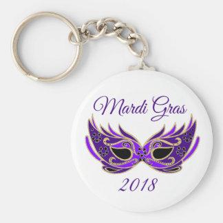 Mardi Gras 2018 Mask Key Ring