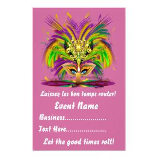 """Mardi Gras 5.5"""" x 8.5""""  Portrait Please View Notes Personalized Flyer"""