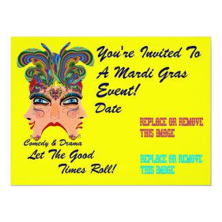 """Mardi Gras 6.5"""" x 8.75"""" Landscape Plse View Notes 17 Cm X 22 Cm Invitation Card"""