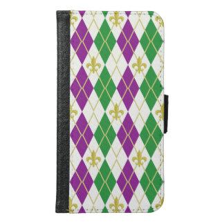 Mardi Gras Argyle Smartphone Wallet Case