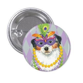 Mardi Gras Aussie 3 Cm Round Badge