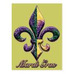 Mardi Gras bead Fleur de lis 2