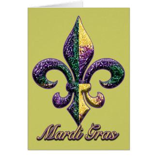 Mardi Gras bead Fleur de lis 2 Greeting Cards