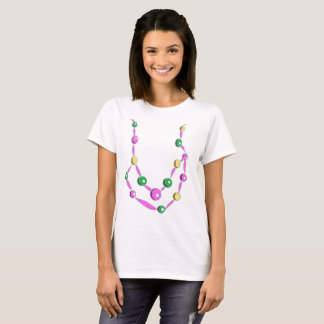 Mardi Gras Bead Necklace T-Shirt