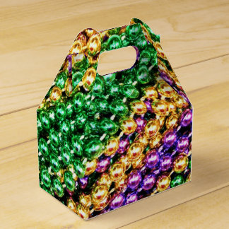 Mardi Gras Beads Favour Box