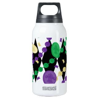 Mardi Gras Beads Insulated Water Bottle