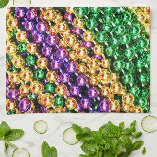 Mardi Gras Beads Tea Towel