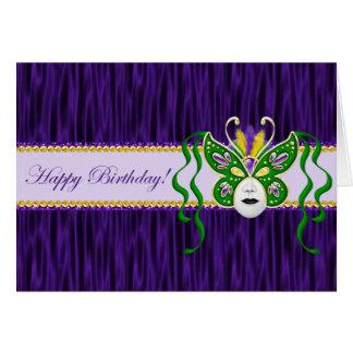 Mardi Gras Birthday Card