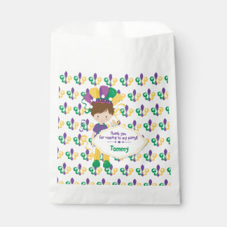 Mardi Gras Birthday Party For Boy Favour Bag