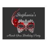 """Mardi Gras Birthday"" - Party Invitation"