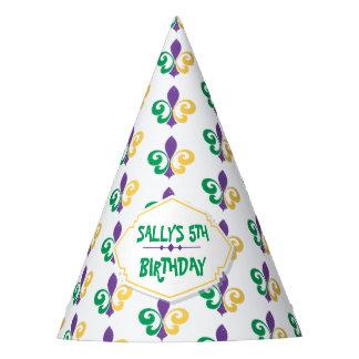 Mardi Gras Birthday Party Party Hat