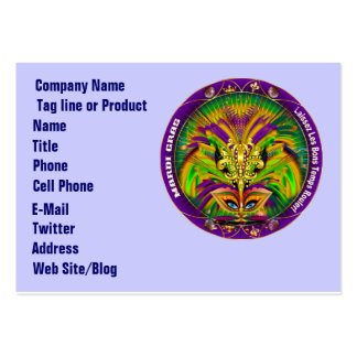 Mardi Gras Business Horz. Please View Hints Pack Of Chubby Business Cards