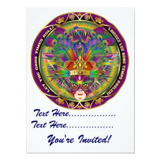 Mardi Gras Carnival Event  Please View Notes 17 Cm X 22 Cm Invitation Card