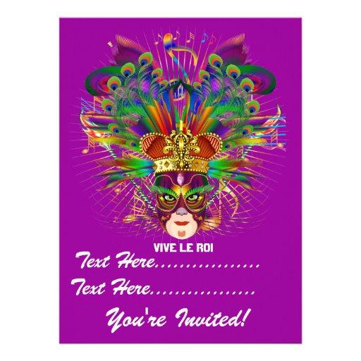 Mardi Gras Carnival Event  Please View Notes Personalized Invite