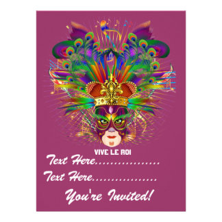 Mardi Gras Carnival Event Please View Notes Personalized Announcement
