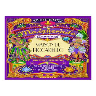 Mardi Gras Carnival Invitation