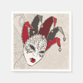 Mardi Gras Carnival Mask Paper Napkins