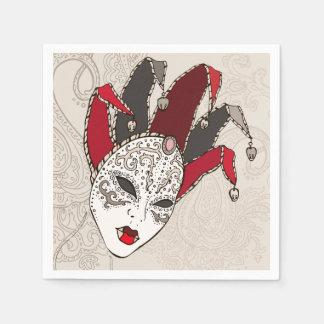 Mardi Gras Carnival Mask Paper Napkins Disposable Napkin