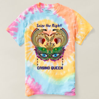 Mardi Gras Casino Queen view notes below T Shirt