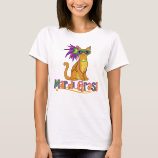 Mardi Gras Cat T-Shirt