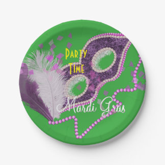 Mardi Gras Celebrations Fancy Mask Party Paper Plate