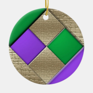 Mardi Gras Ceramic Ornament