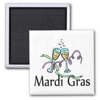 Mardi Gras Champagne Magnet