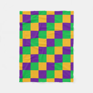 Mardi Gras Checker Blanket