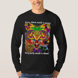 Mardi Gras Clown MEN DARK all styles View Hints T-Shirt