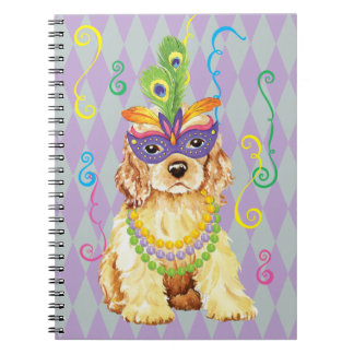 Mardi Gras Cocker Spaniel Notebooks