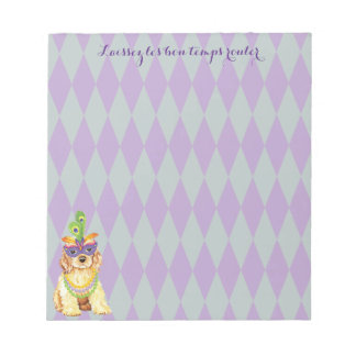 Mardi Gras Cocker Spaniel Notepad