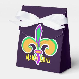 Mardi Gras Colors Fleur De Lis Party Personalized Favour Box