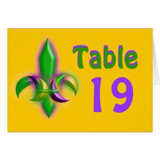Mardi Gras Colors Fleur-de-lis Party Table Cards