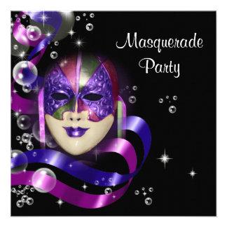 Mardi Gras costume mask PERSONALIZE Custom Announcements