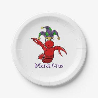 Mardi Gras Crawfish Paper Plate