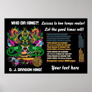 Mardi Gras D. J. Dragon King View Hints please Poster