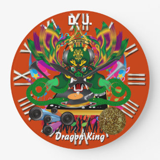 Mardi Gras D. J. Dragon King View notes please Wall Clock