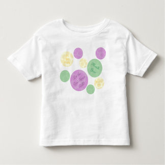 Mardi Gras Dots Celebration Fun Toddler T-Shirt