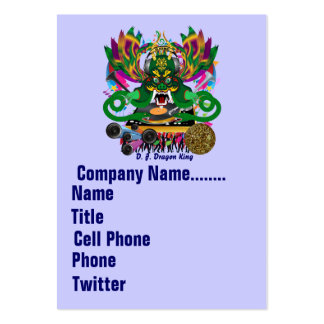 Mardi Gras Dual Logo Please View Notes Large Business Cards (Pack Of 100)