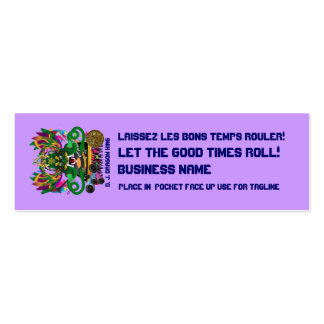 Mardi Gras Dual Logo Please View Notes Pack Of Skinny Business Cards