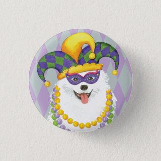 Mardi Gras Eskie 3 Cm Round Badge